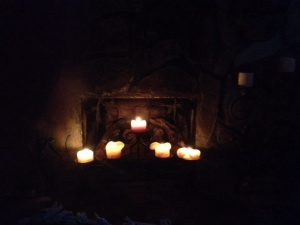 The summer fireplace...peaceful.