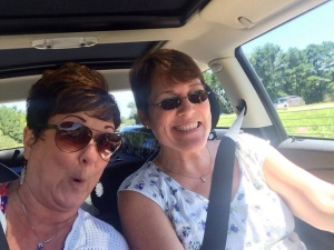 Diane and me, on the road, always fun.