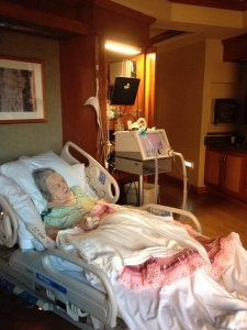 The last photo I took of Mom, resting peacefully in the early morning light.