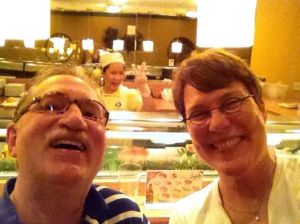 Sushi photo bomb...with our favorite sushi chef.